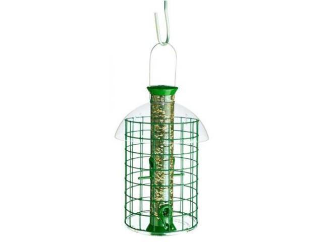Droll Yankees, Inc Sunflower Domed Cage Shelter Feeder, Green - D50SDC