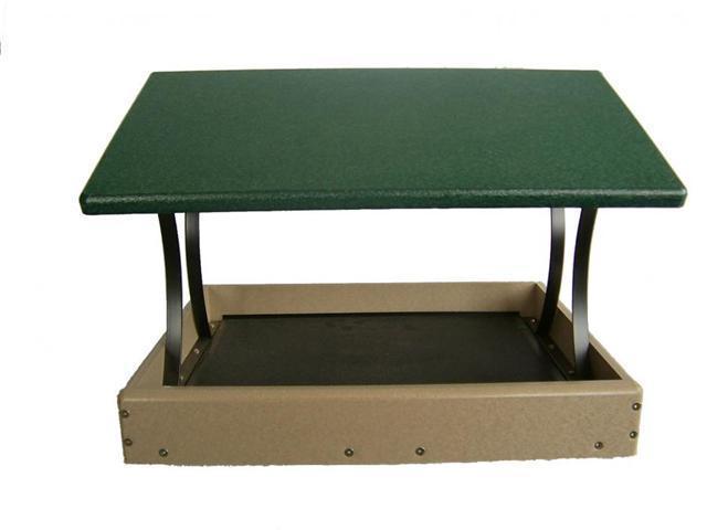 Bird's Choice 17 X 16 Fly-Thru Platform-Green Roof
