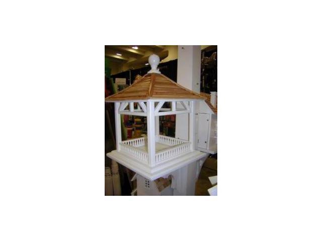 Home Bazaar Dream House Feeder - Pine Shingle Roof - HB-2085