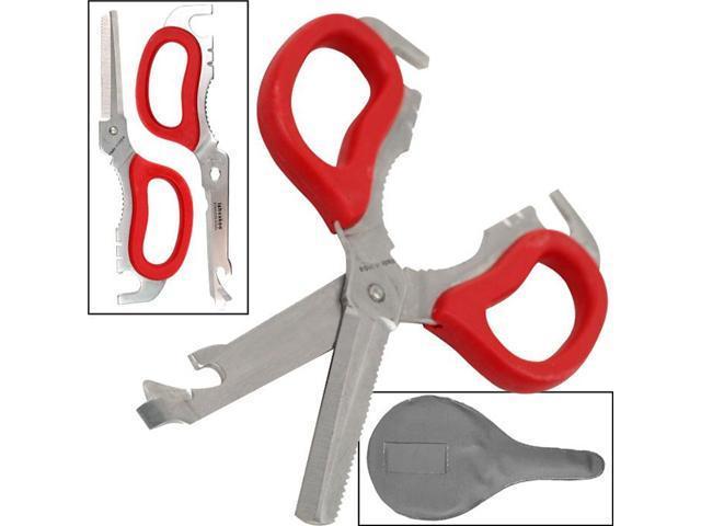 Trademark Tools Multi-Purpose Detachable Scissors - Red