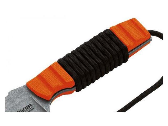 Boker Orange Micarta Scales for Bender Fixed Blade Knife