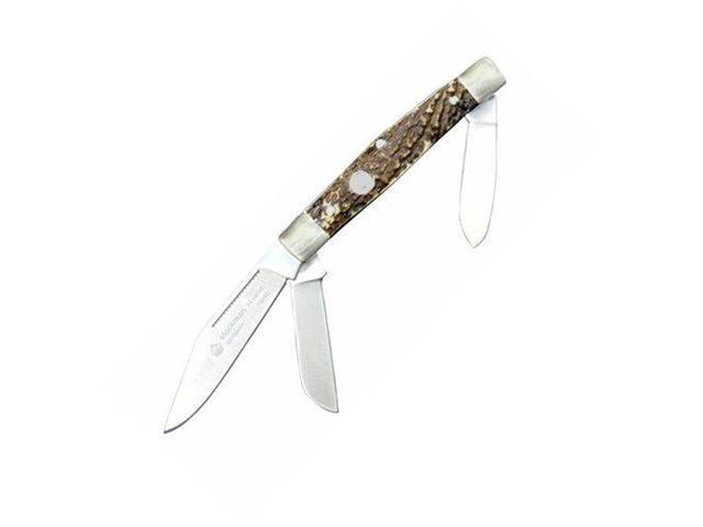 PUMA Knives Stock 3 Blade Pocket Knife with Stag Handle