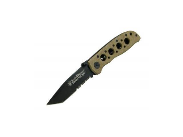 Smith & Wesson CK5TBSD Desert Tan Extreme Ops Tanto Pocket Knife
