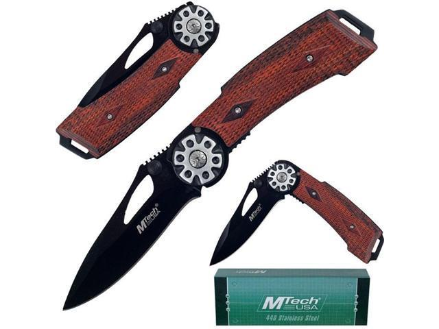 MTechR Pistol Grip Tactical Folding Knife - 7.75 inches