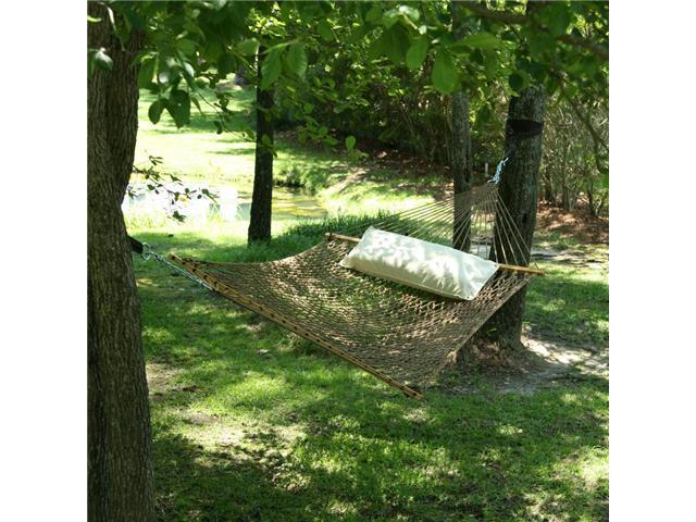 Pawleys Island Large DuraCord Rope Hammock, Antique Brown