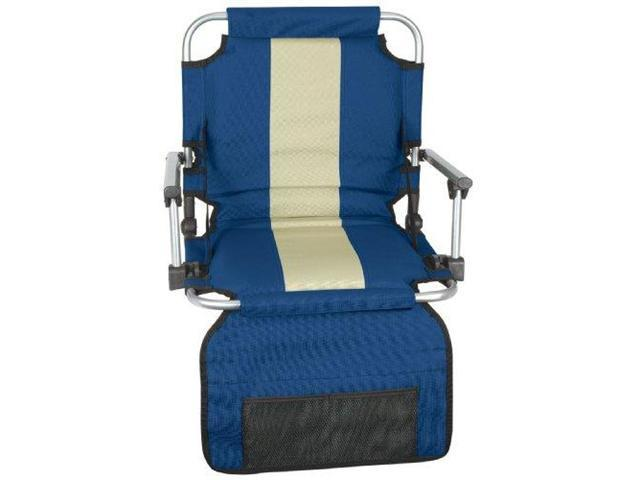 Stansport Stadium Seat With Arms in Blue/Tan G-8-50