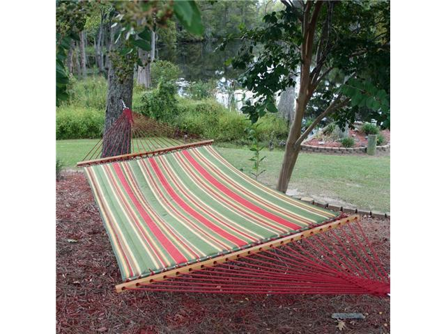 Pawleys Island Trellis Garden Large Quilted Fabric Hammock
