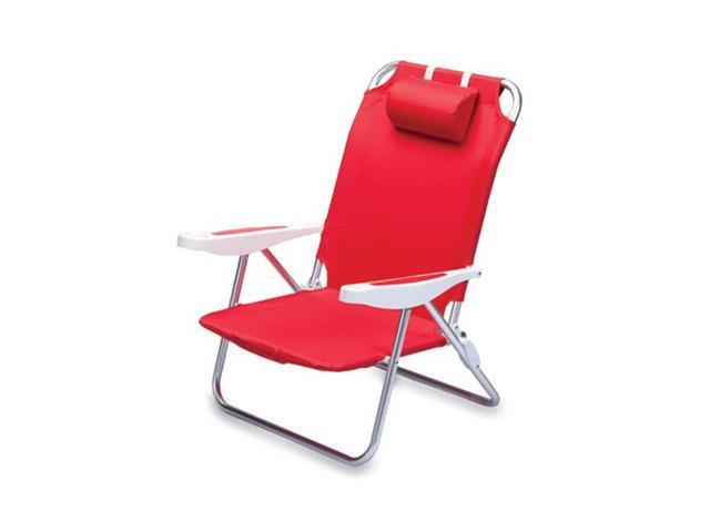 Picnic Time Monaco Beach Chair, Red
