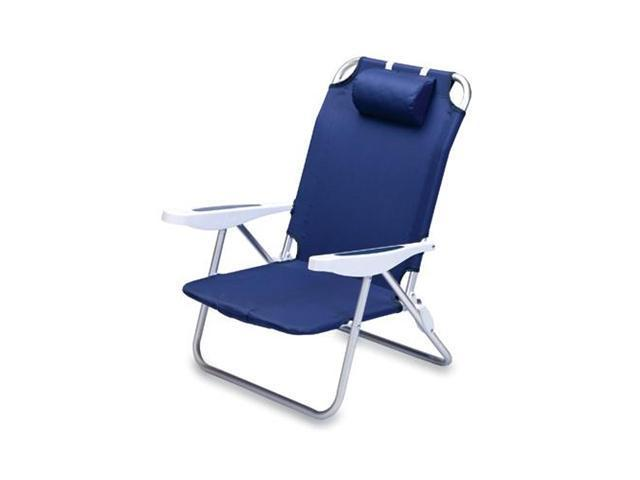 Picnic Time Monaco Beach Chair, Navy