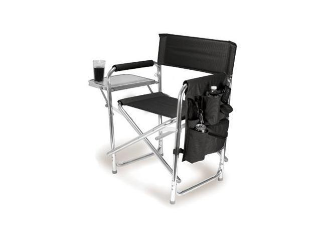 Picnic Time Black Portable Folding Sports/Camping Chair