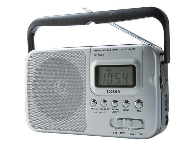 Coby Am/Fm TV Weatherband Radio Digital Display
