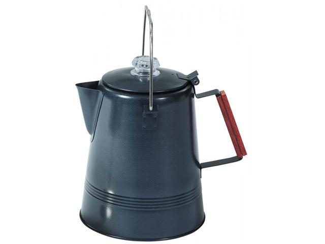Stansport Black Granite Percolator Coffee Pot - 28 Cup