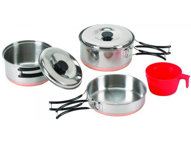 Stansport One Person Stainless Steel Cook Set 361