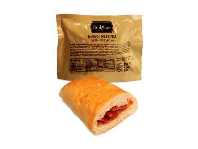 Bridgford Bacon and Cheddar Sandwich - Ready to Eat, Case of 48