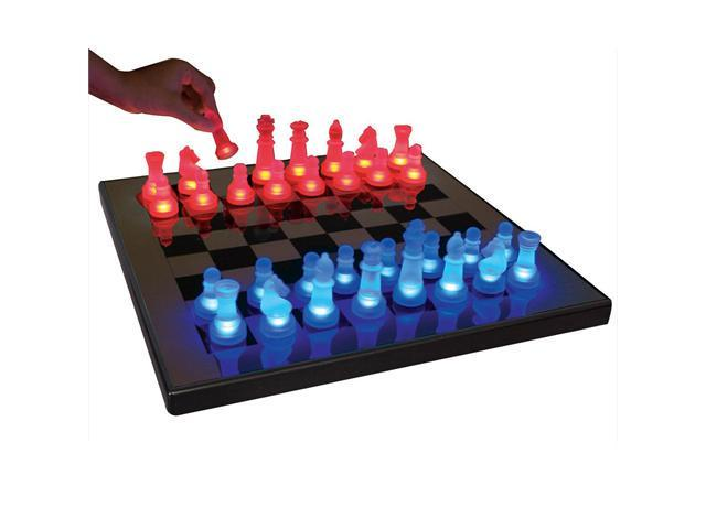 LumiSource LED Glow Chess Set in Blue & Red - SUP-LEDCHES-BR