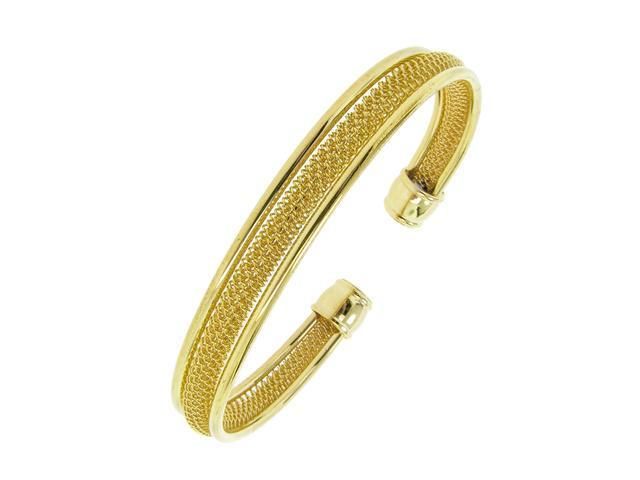 Ladies Yellow Gold Tone Cuff