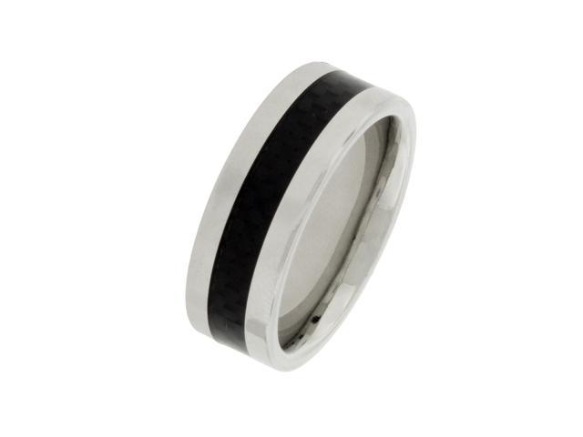 Men's 8mm Cobalt Ring with Carbon Fiber Center, Sizes 8-12