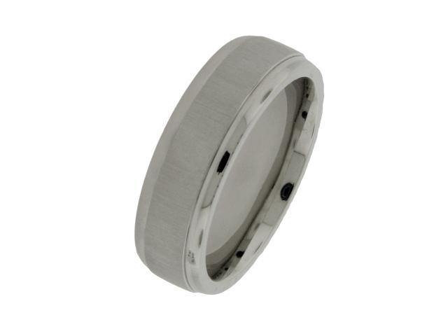 Men's 7mm Cobalt Ring with Satin Finish, Sizes 8-12