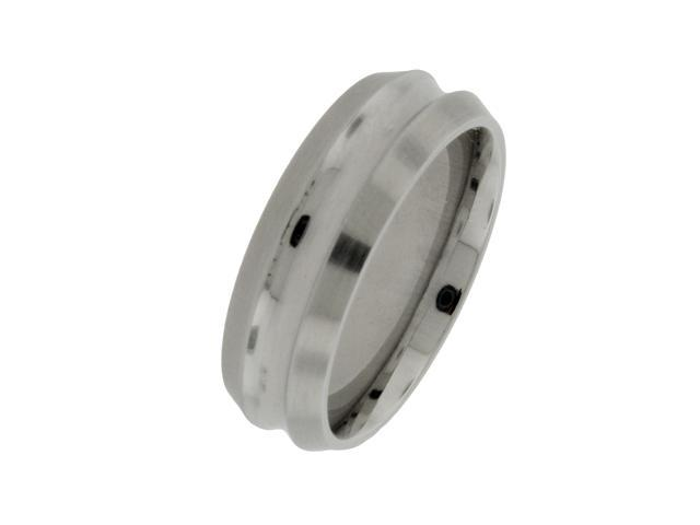 Men's 7mm Cobalt Ring with Single Row, Sizes 8-12