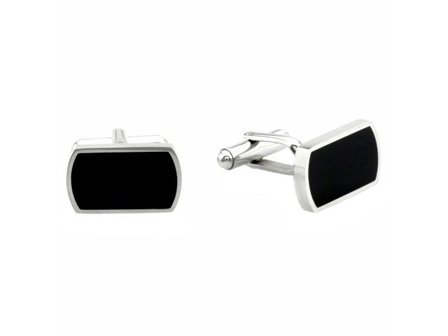 Resin Inlay Cuff Links in Stainless Steel