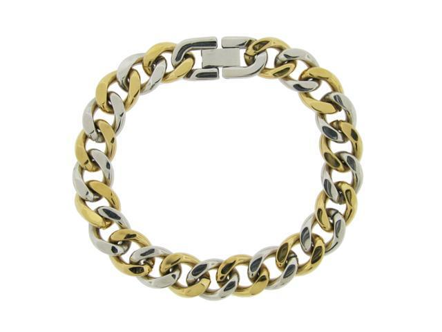 Stainless Steel Bracelet with Gold Ion Plating