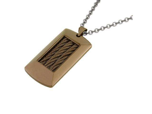 Stainless Steel Dog Tag with Chocolate Ion Plating
