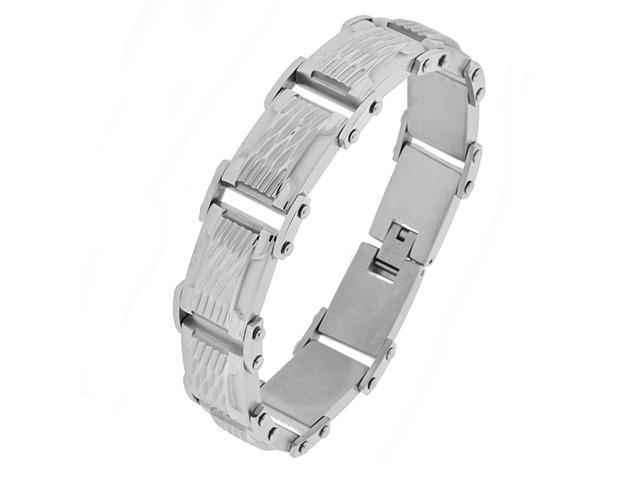 Stainless Steel Bracelet with Texture