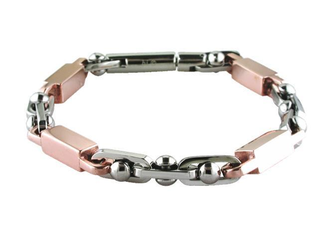 Stainless Steel Bracelet with Chocolate Ion Plating