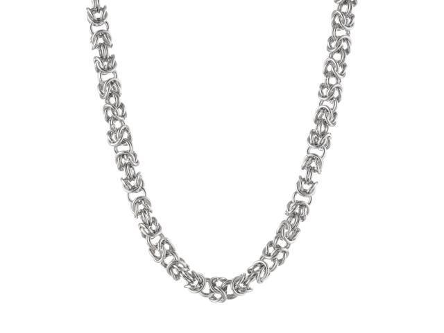 Metro Jewelry Stainless Steel Byzantine Necklace