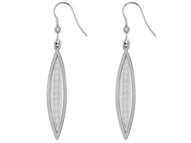 Metro Jewelry Stainless Steel Earrings with Scale