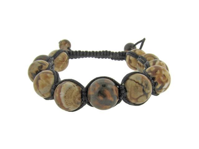 Metro Jewelry Black Cord Tiger Eye Beads Adjustable Shamballa Bracelet