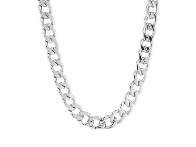 Metro Jewelry Stainless Steel Thick Curb Necklace