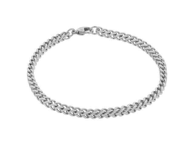 Metro Jewelry Stainless Steel Thin Foxtail Bracelet