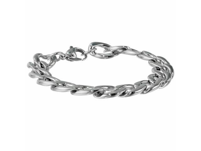 Metro Jewelry Stainless Steel Thick Curb Bracelet