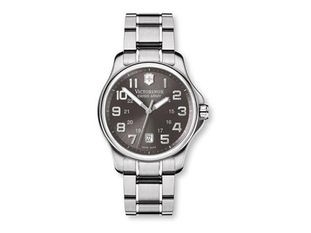 Swiss Army Men's Stainless Officer Watch - Bracelet - Gray Dial - 241361