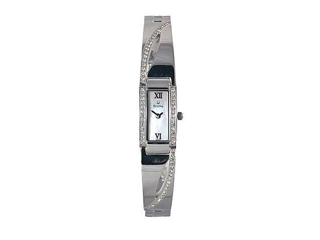 Bulova Crystal Series Mother of Pearl Dial Womens Watch 96T63