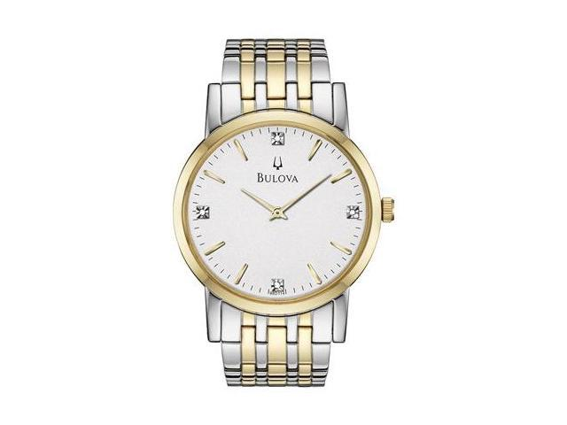 bulova casual diamonds mens watch 98d114 newegg com bulova casual diamonds mens watch 98d114