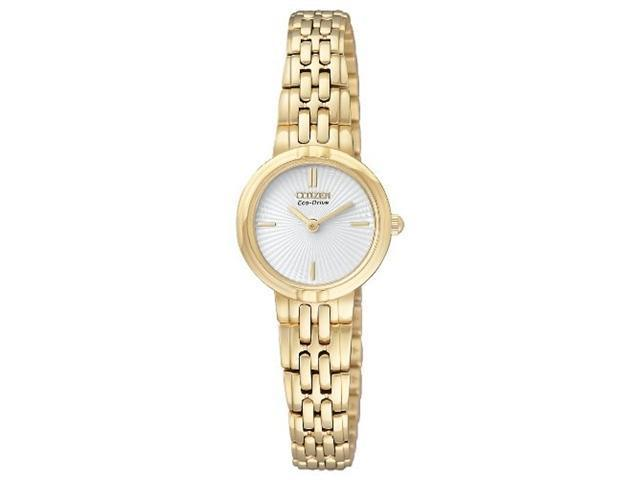 Citizen EX1092-57A Gold Tone Stainless Steel Silhouette Eco-Drive White Dial
