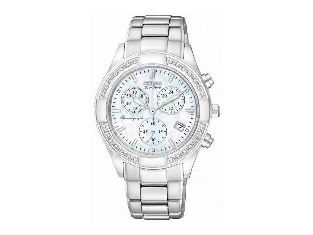 Citizen Regent Eco-Drive Chronograph Diamond Pearl Dial Ladies Watch FB1220-53D