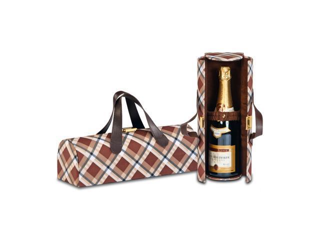 Picnic Plus Carlotta Clutch Wine Bottle Clutch-Saddle Plaid
