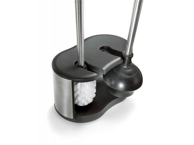 toilet brush and plunger caddy by polder. Black Bedroom Furniture Sets. Home Design Ideas