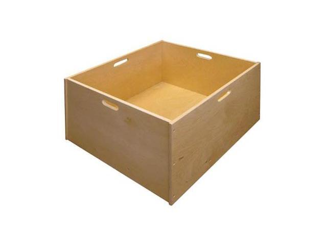 Block Tub On Heavy Duty Casters-Hardwood-For Kids - by Early Childhood Resources