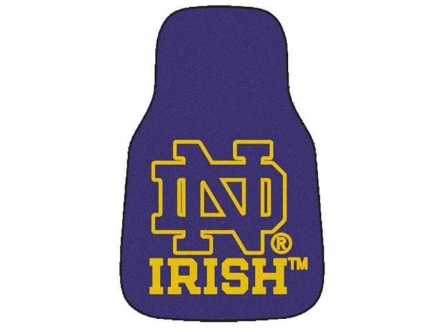 NCAA 2-Piece Car Mat Set - Notre Dame - by Fan Mats