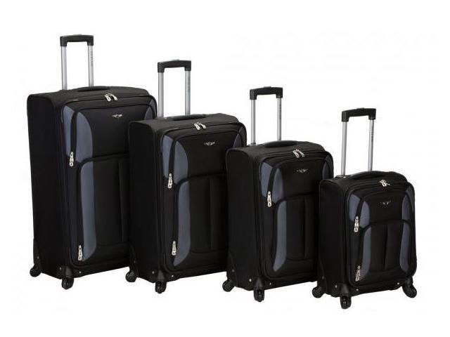 Four Piece Impact Spinner Luggage Set - by Fox Luggage