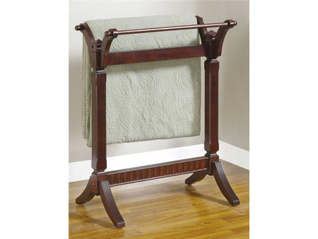 Contemporary Merlot Blanket Rack - by Powell