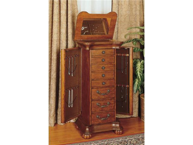 Wilmington Cherry & Burl Jewelry Armoire - by Powell