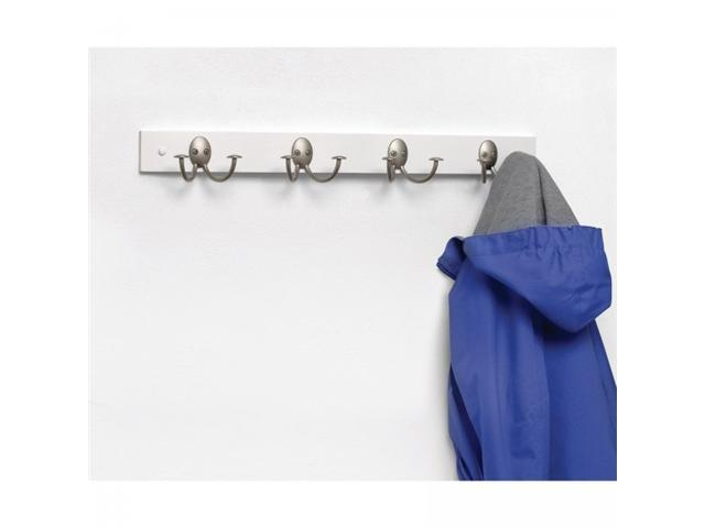 Wall Mounted Wooden Coat Rack - White - by Spectrum