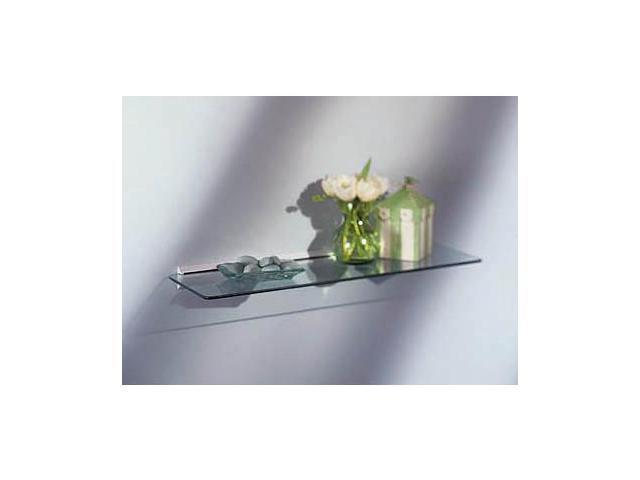 Rectangular Glass Shelf Kit 8x24 - Wall Mounted