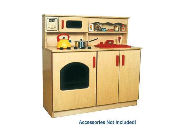 Deluxe Kitchen Play Set-Four Toys In One-Hardwood - by Early Childhood Resources