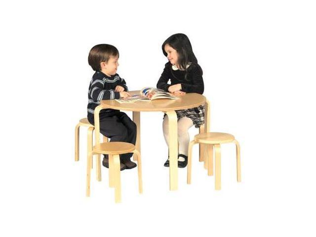 Kids Nordic Table & 4 Chair Set-All Natural Finish - by Guidecraft